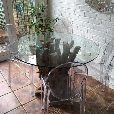driftwood and glass dining table driftwood dining table base with glass top