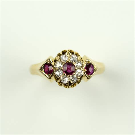 Ruby 7 65 Ct antiques atlas antique ruby and ring 18ct gold