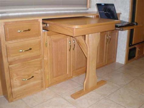 desk slide out shelf custom slideout rv desk rv stuff pinterest laptops