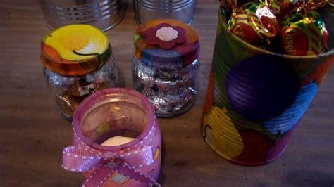 que puedo hacer con frasquitos de vidrio para un baby shower manualidades con latas y frascos de vidrio youtube