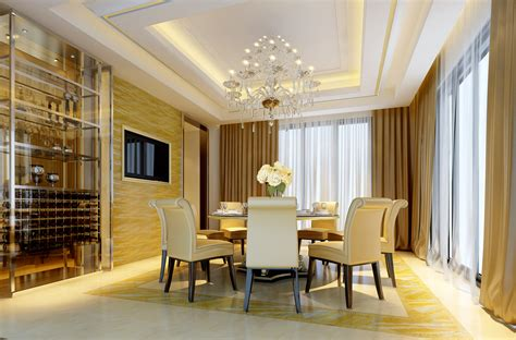 Marble Dining Room by Modern Dining Room With Marble Floor Fully 3d Model