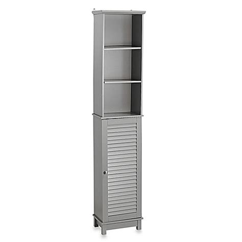 bed bath and beyond summit buy summit tall cabinet tower in gray from bed bath beyond