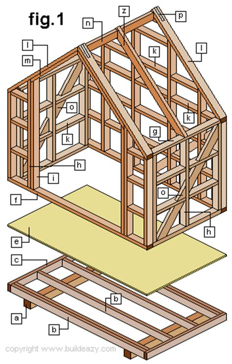 narrow backyard shed  plans instructions