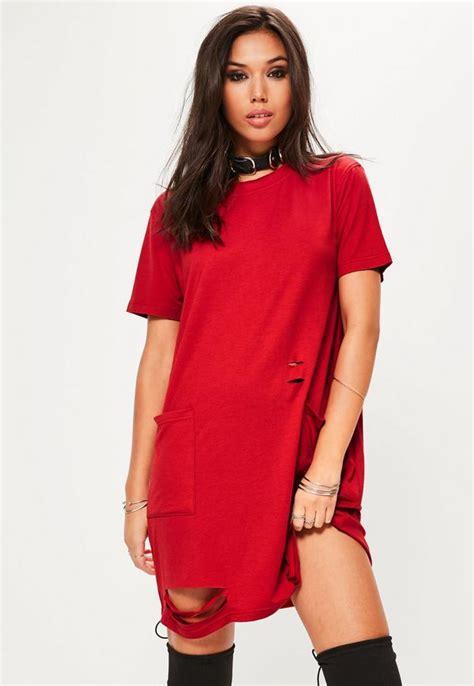 Pocket T Shirt Dress distressed pocket t shirt dress missguided ireland