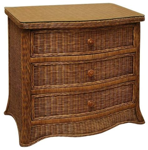 Wicker Drawer Chest by Roma 3 Drawer Wicker Chest Tropical Furniture By