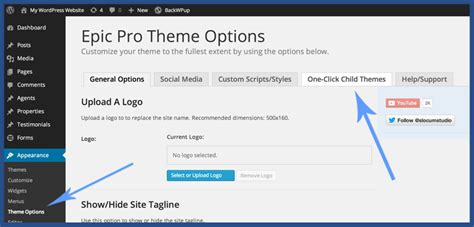 child theme creator wordpress make a child theme on wordpress slocum themes