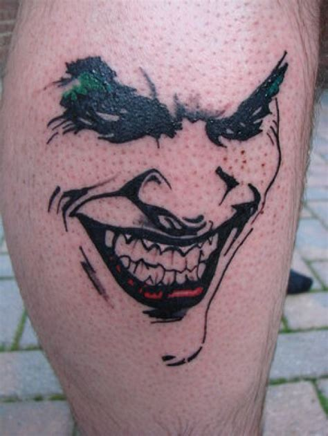 dark smile joker tattoo design tattoo design ideas
