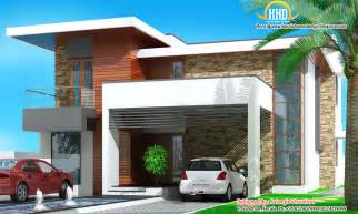 modern 3 bedroom house in 1880 sq kerala front elevation modern house home decorating ideas