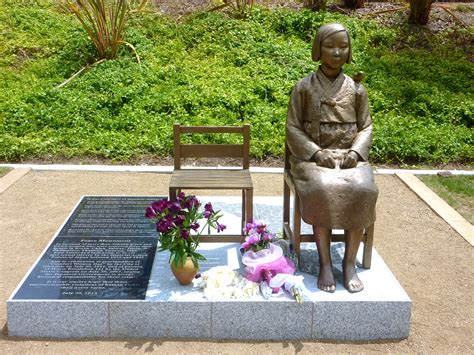 comfort girls comfort women statue glendale travels with mai tai tom