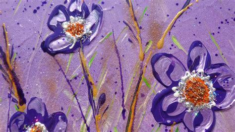 dipinti di fiori astratti fiori viola in verticale vendita quadri quadri