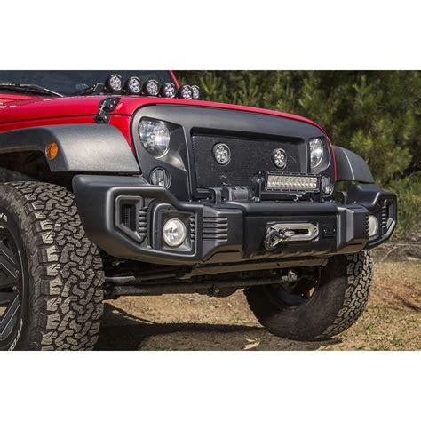 jeep wrangler front bumper rugged ridge 11544 01 spartacus front bumper satin black