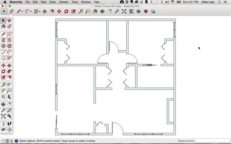how to floor plan sketchup floor plan tutorial doors and windows