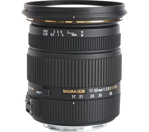 Sigma Canon buy sigma 17 50 mm f 2 8 ex dc hsm standard zoom lens for canon free delivery currys