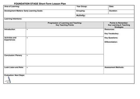 eyfs lesson plan template  noaddedsugar uk teaching resources projects