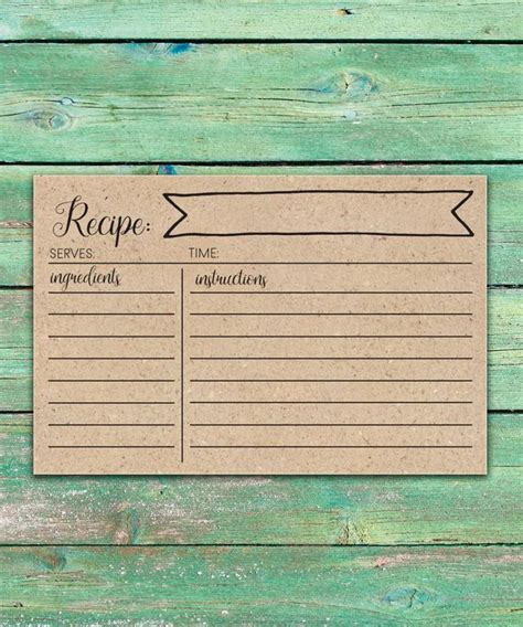 personalized recipe cards the spotted olive