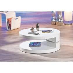 table basse ronde laqu 233 e blanche extensible ruben achat
