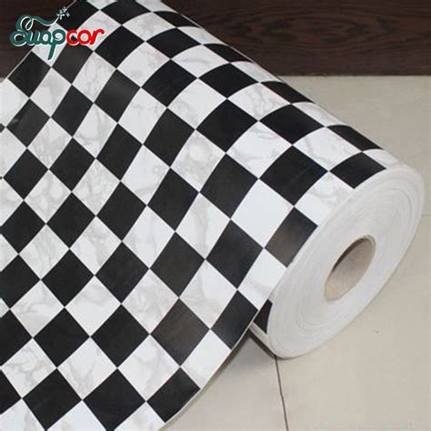 Wallsticker 0 45x10m Wps626 aliexpress buy 0 45x10m mosaic vinyl self adhesive wallpaper for kitchen tile black white