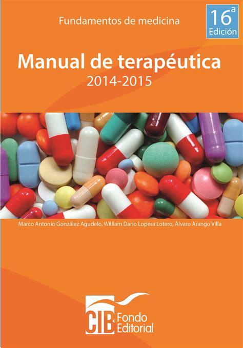manual de percepciones cjf 2016 gonzalez manual de terapeutica