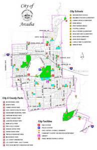 arcadia city parks map arcadia california mappery