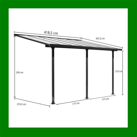 terrasse carport carport toit terrasse en aluminium 4x3 m abrirama tt3042al