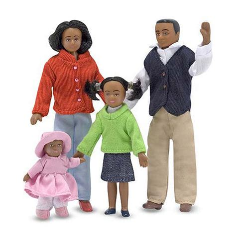 dolls house family sets 4pc set of black doll house dolls 1 12 scale