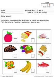eating healthy worksheets on healthy eating