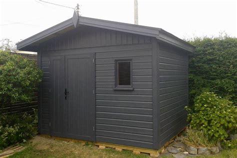abri de jardin gris anthracite abri de jardin en bois gris fonc 233