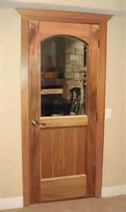 vigilant classic half glass square arch wine cellar door