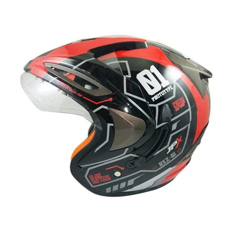 Helm Jpx jual jpx supreme r2x helm half black harga kualitas terjamin blibli