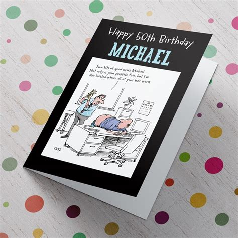 Personalised 50th Birthday Cards For Him personalised card 50th birthday birthday