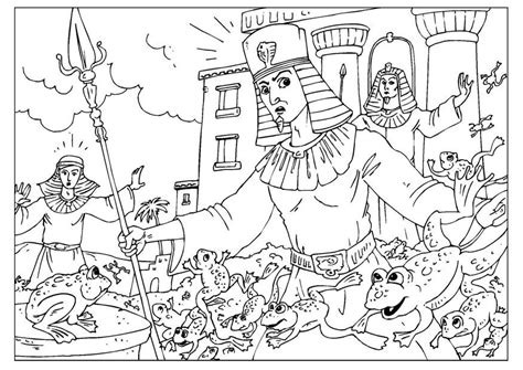 coloring pages moses killing egyptian malvorlage froschplage ausmalbild 25965