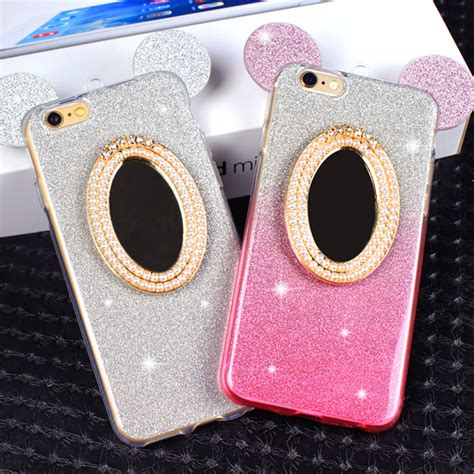 Ap Mickey 3d Glittery High Quality Softcase Iphone 4 5 6 6 Grand mickey mouse mirror promotion shop for promotional mickey mouse mirror on aliexpress