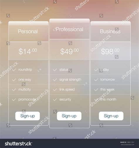 design app price modern website ui template design transparent app user