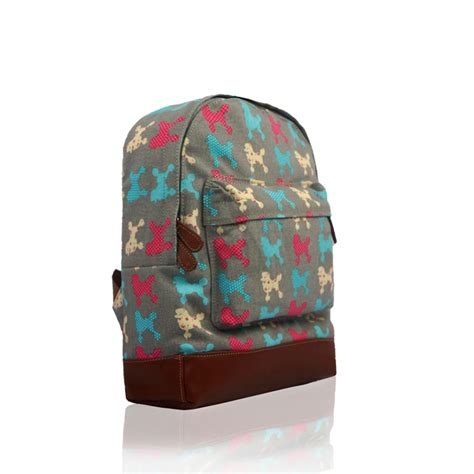 new everyday canvas dog printed backpack school college