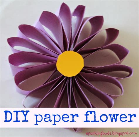 Flower Using Paper - easy paper flower sparklingbuds