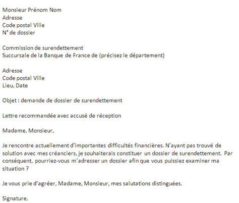 Exemple De Lettre Surendettement Comment Faire Un Dossier De Surendettement Credimania