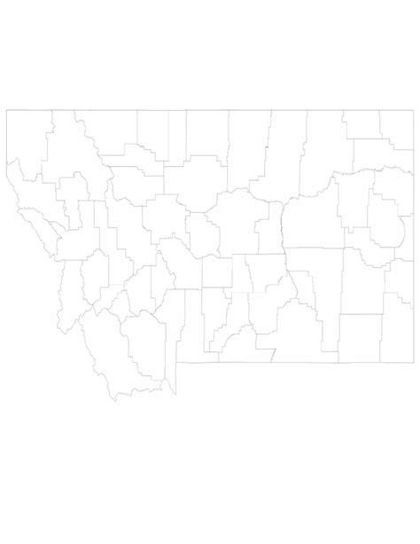 blank map of montana blank montana county map free