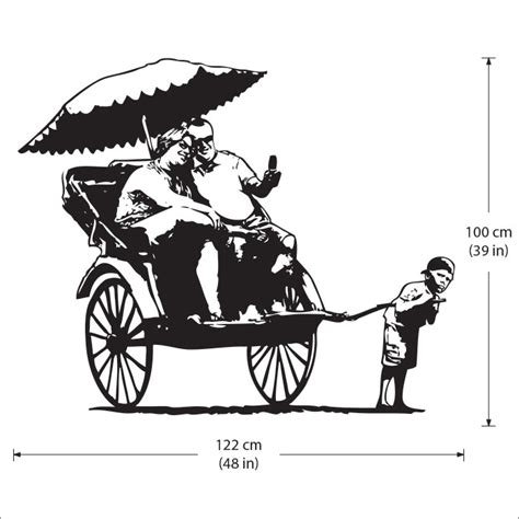 Wandaufkleber Banksy by Banksy Rickshaw Kid Wandaufkleber Wandtattoo