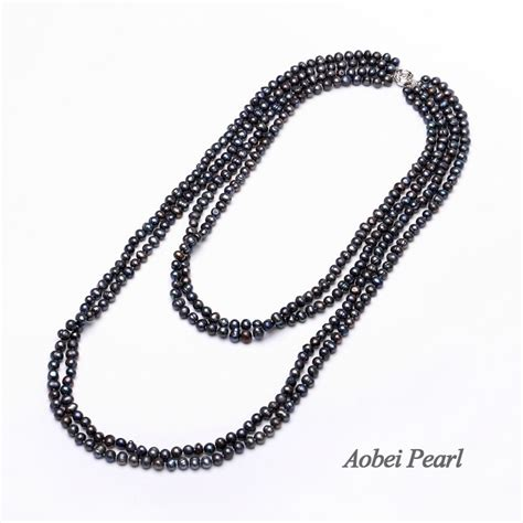 Pearl Layered Necklace aobei pearl handmade layered necklace with potato