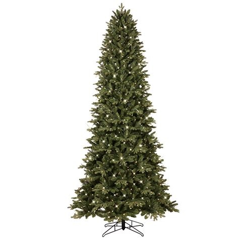9 ft pre lit tree shop ge 9 ft 3467 count pre lit aspen fir slim artificial