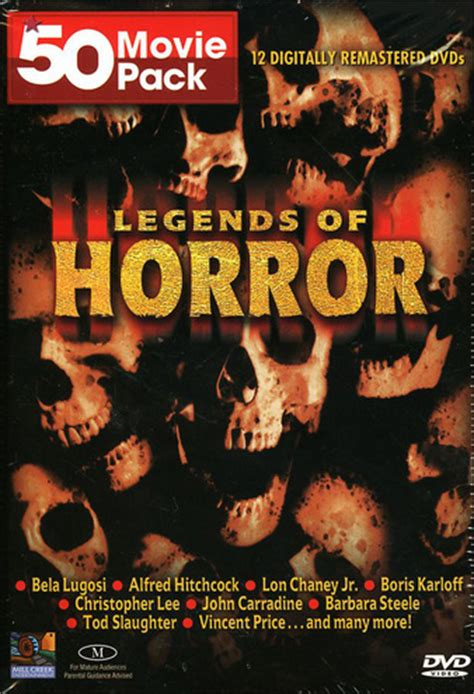 western classics 50 pack 12 50 pack legends of horror 12 disc import dvd