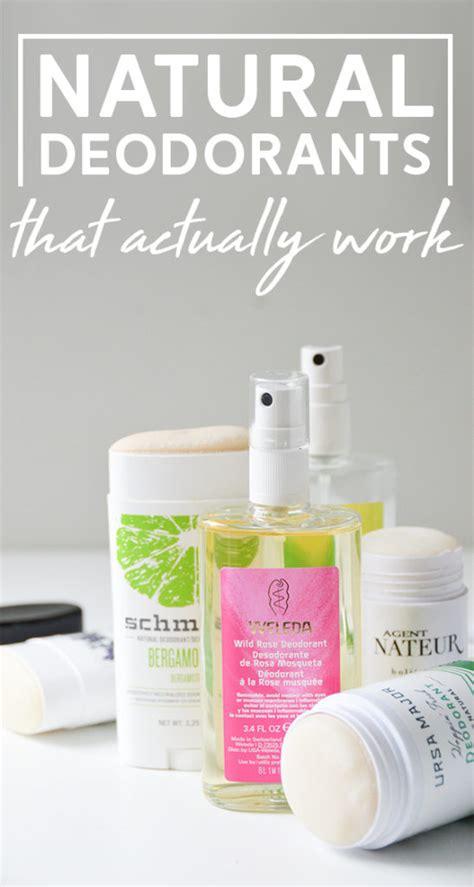 aluminum  natural deodorants   work