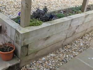 Raised Garden Beds Brick - railway sleepers