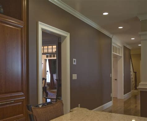 colored wall brown paint color for kitchen accent wall interior