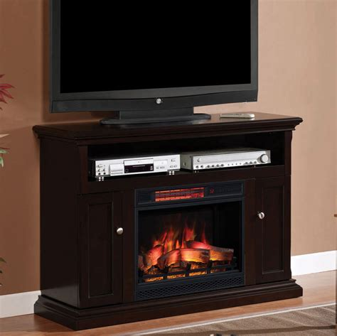 Electric Fireplace Espresso by Cannes Infrared Electric Fireplace Media Cabinet In Espresso 23mm378 E451
