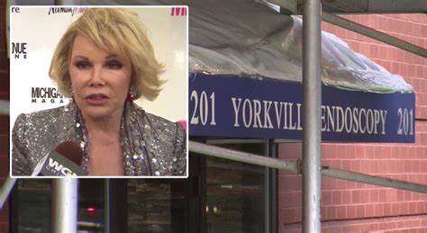 Joan Rivers Mourns The Passing Of by Rick Perry Joan Rivers Would Been Prevented