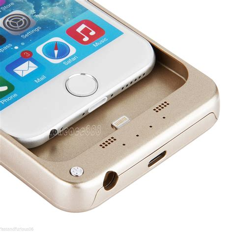 external power bank backup charger battery cover for apple iphone 6 6s plus ebay
