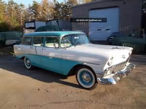 1956 chevy 210 barn find station wagon v 8 a c auto 1