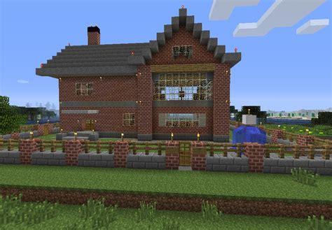 Minecraft Brick House by Brick House Minecraft Project