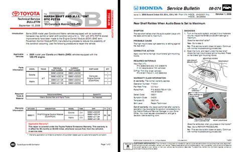 Toyota Service Bulletin Toyota Technical Service Bulletin Best Cars Modifications